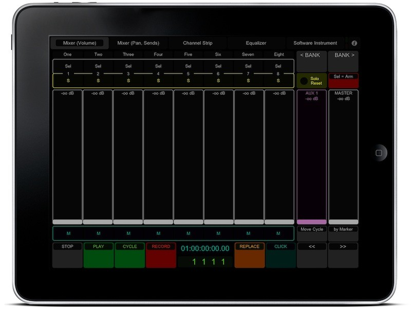 Apple iPad with Logic 9 and TouchOSC